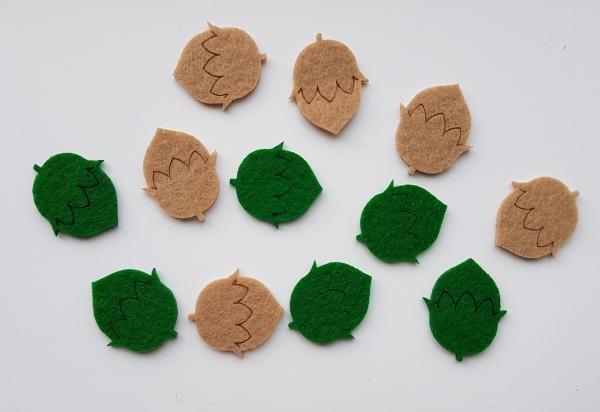 Figurine din fetru - Alune de padure 0
