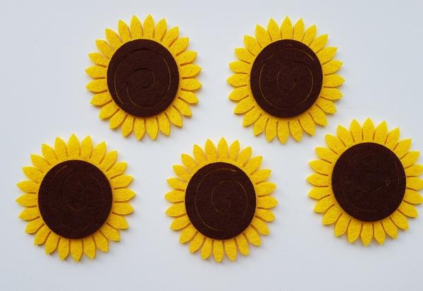 Figurine din fetru - Floarea soarelui 0