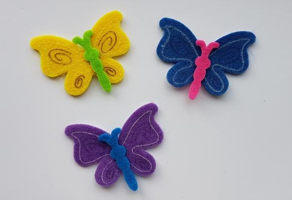 Figurine din fetru - fluturi 0
