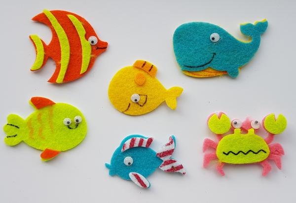 Figurine din fetru - pesti si crustacee 0