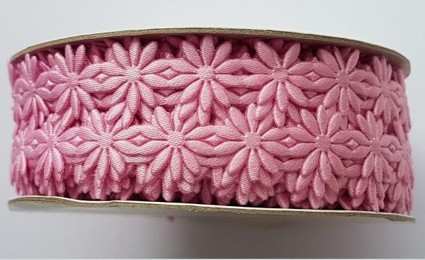 Dantela flori roz - saten [1]