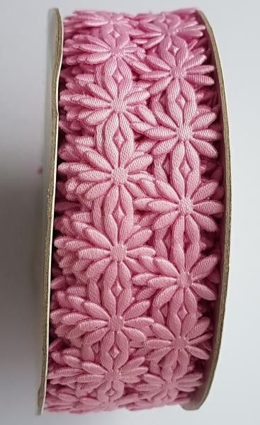 Dantela flori roz - saten [0]