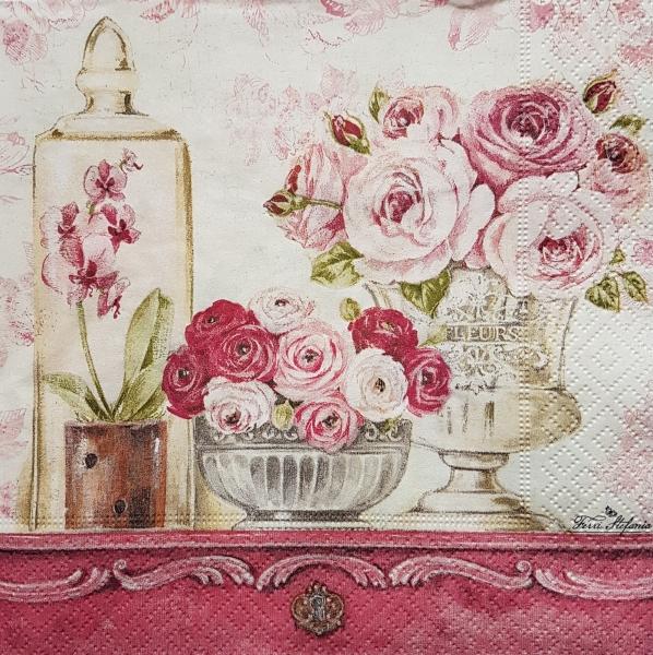 Servetel decorativ - Trandafiri shabby 0