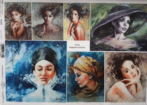 Hartie de orez A4 - Portrete de femei 0