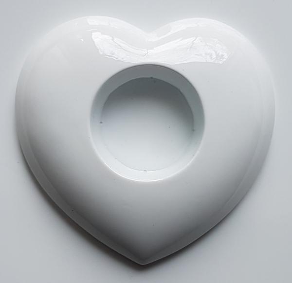 Matrita pentru turnat ipsos - Suport lumanare- Inima 1