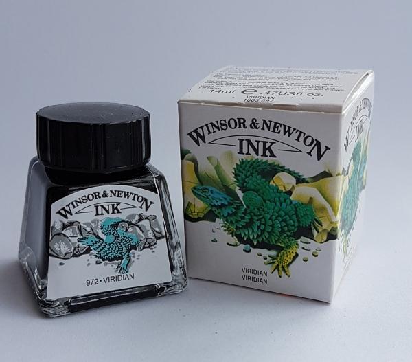 Cerneala desen - verde viridian 14ml 0
