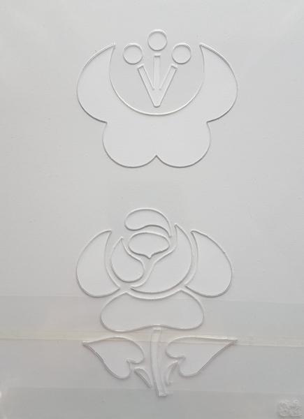 Sablon plastic - Floral 3 0