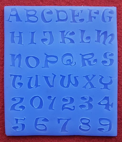 Mulaj din silicon, litere si cifre 0
