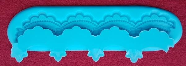 Mulaj din silicon, bordura cu perle 0