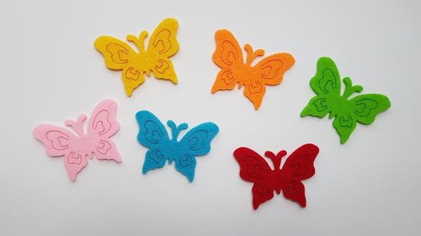 Figurine din fetru, set 6 fluturi 0