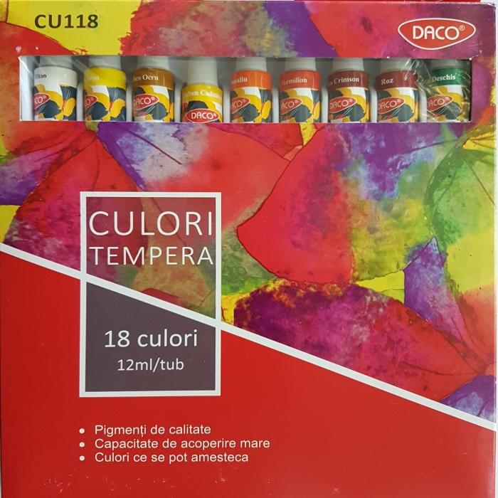 Set 18 culori tempera Daco CU118 1