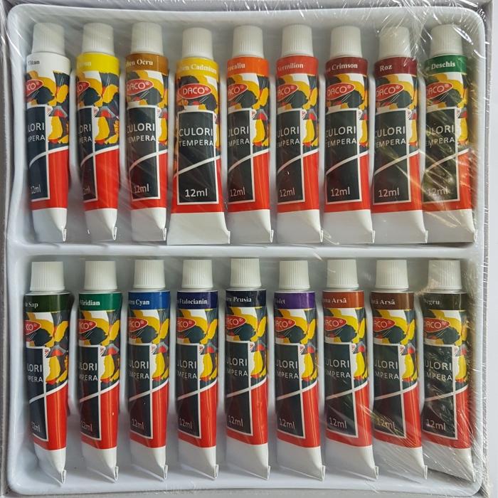 Set 18 culori tempera Daco CU118 2