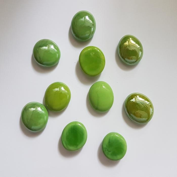 Cabochon sticla - Verde 0