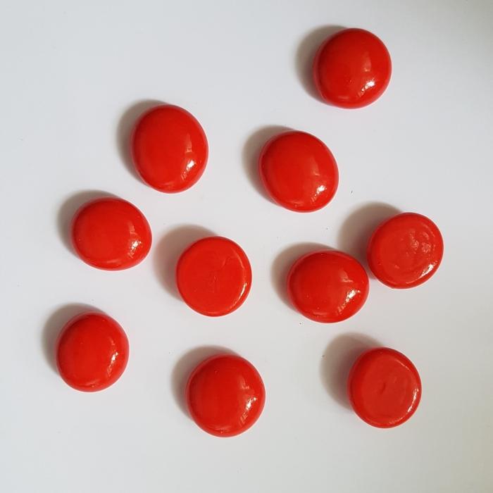 Cabochon sticla - Rosu 0