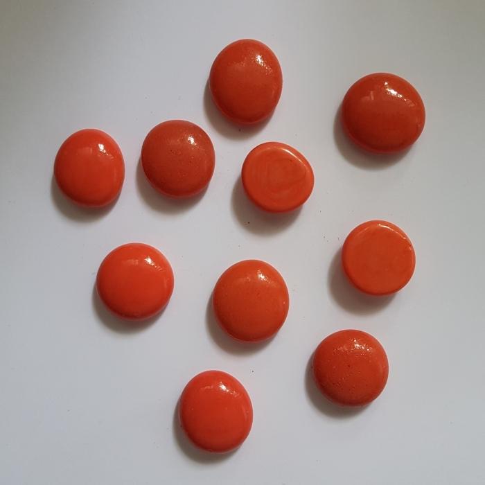 Cabochon sticla - Coral 0