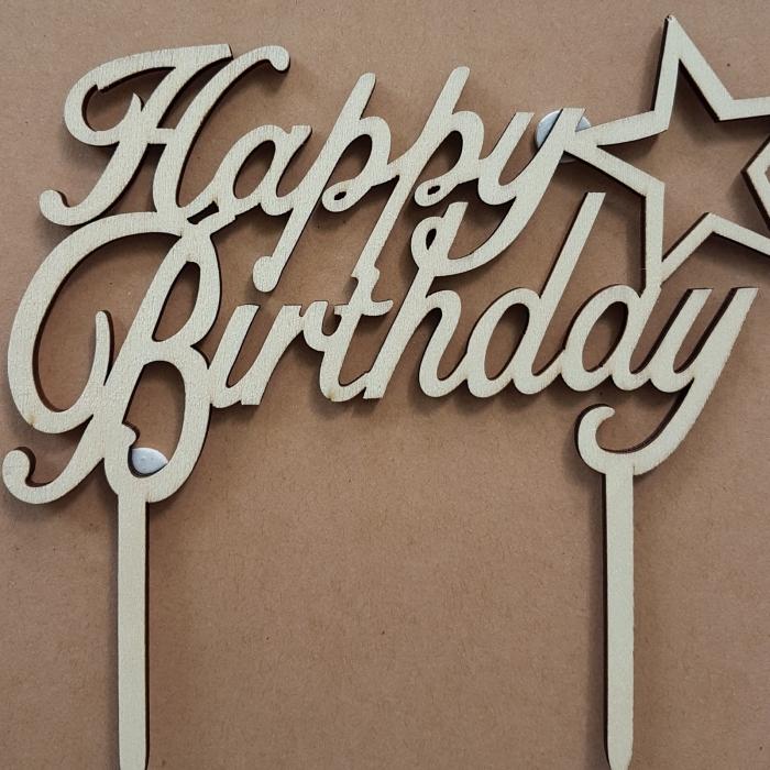 Ornament pentru tort - Happy Birthday 0