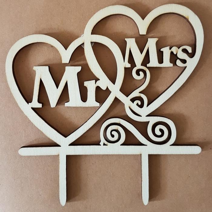 Ornament pentru tort - Mr & Mrs 0