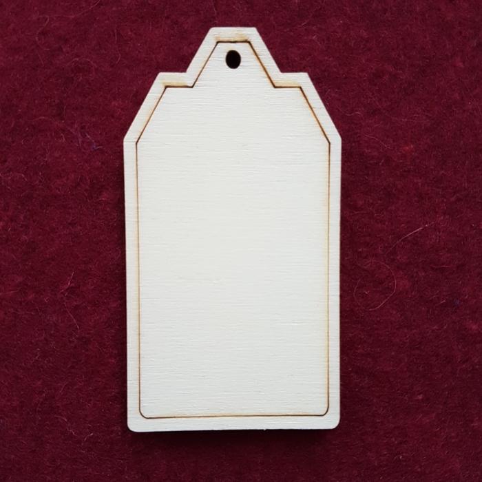 Decoratiune din lemn- Eticheta 2 0