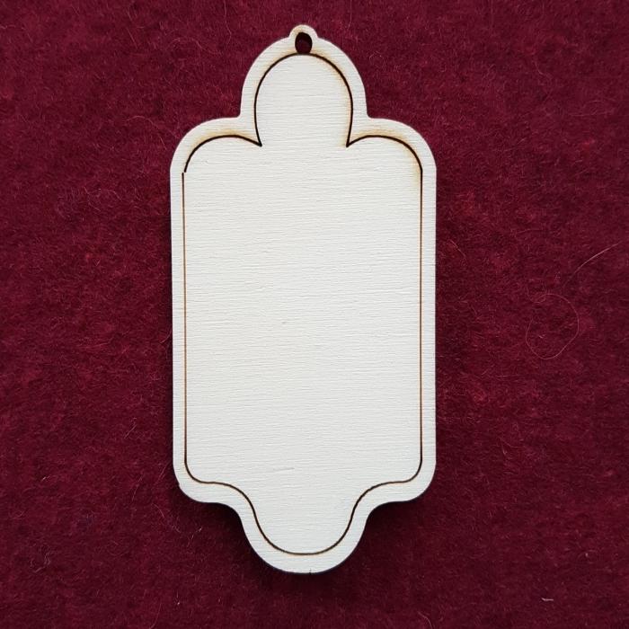 Decoratiune din lemn - Eticheta 3
