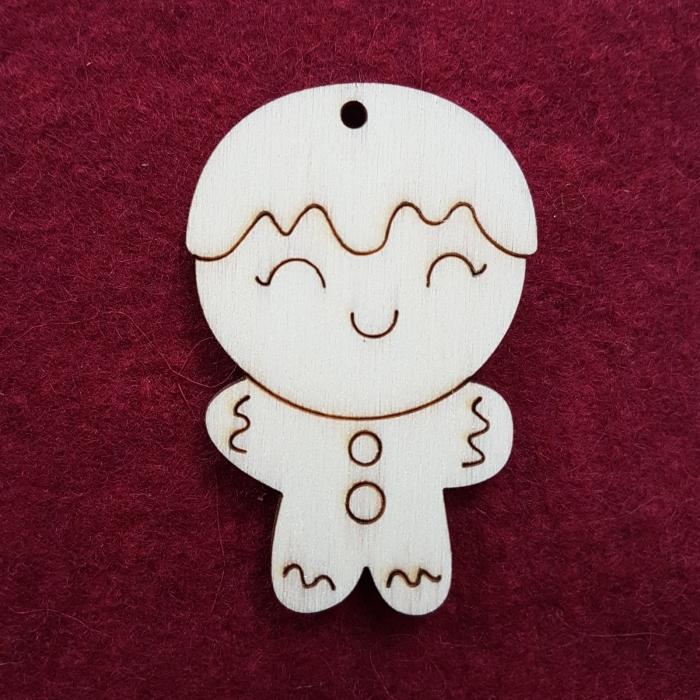 Figurina din lemn - Baietel turta dulce