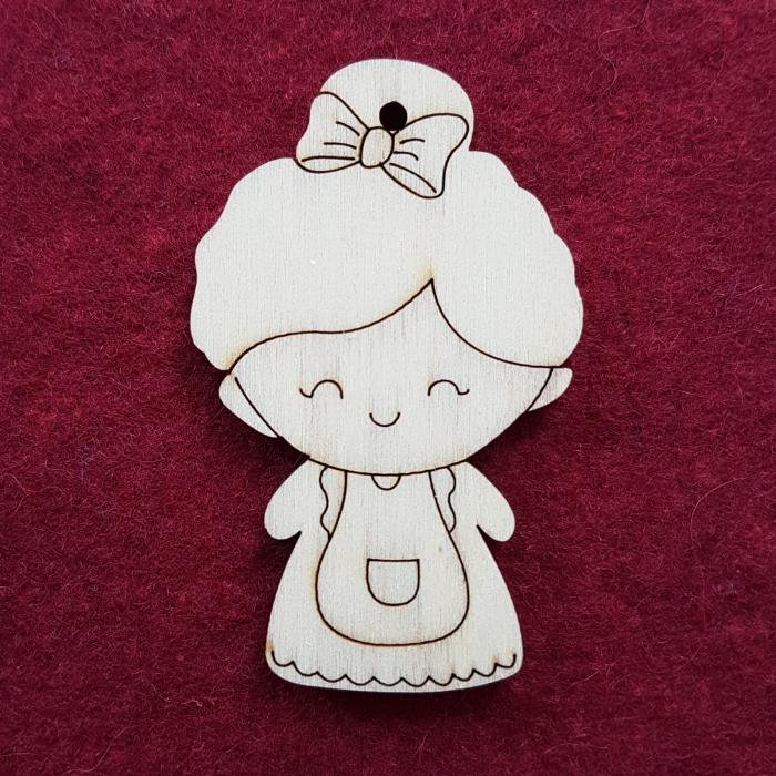 Figurina din lemn - Fetita 0