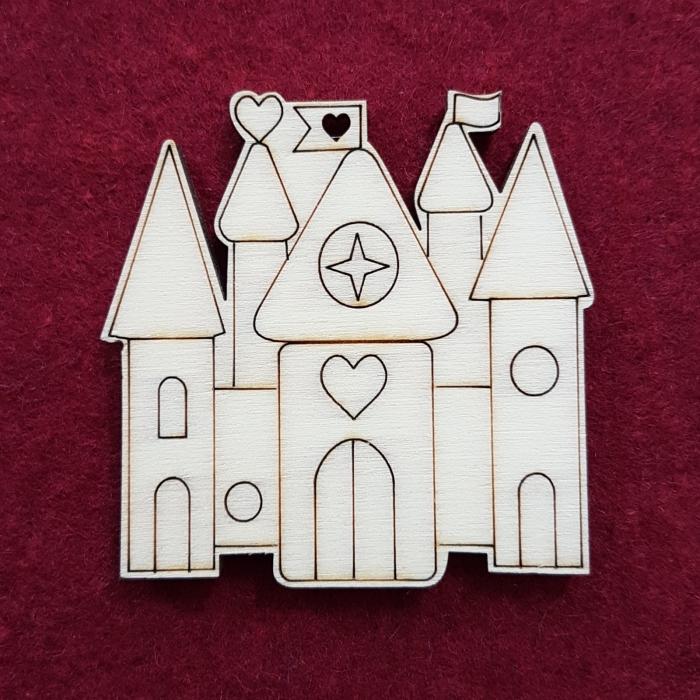 Figurina din lemn - Castel 0