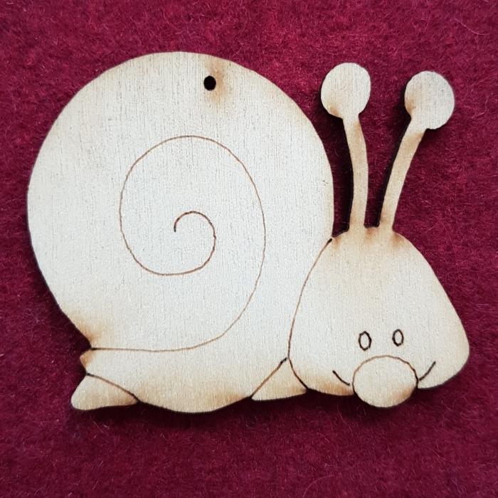 Figurina din lemn - Melc 0