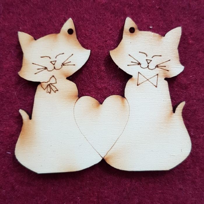 Figurine din lemn - Pisicute 0