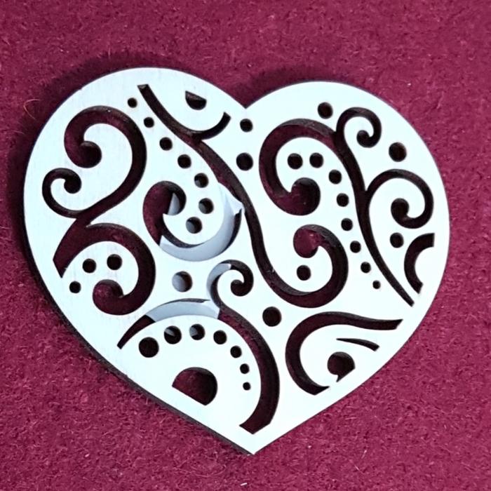 Decoratiune din lemn - Inima 0