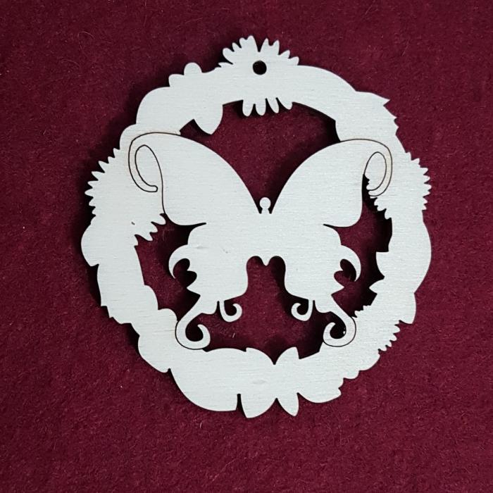 Decoratiune din lemn - flututre 0