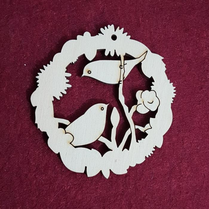Decoratiune din lemn - pasarele 0