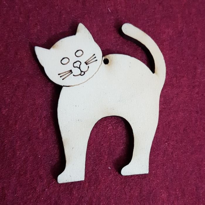 Figurina din lemn - Pisica 0