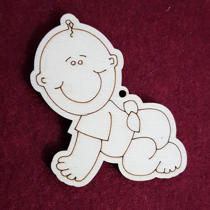 Figurina din lemn - Bebe baiatel 0