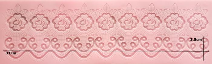 Bordura dantela florala 1