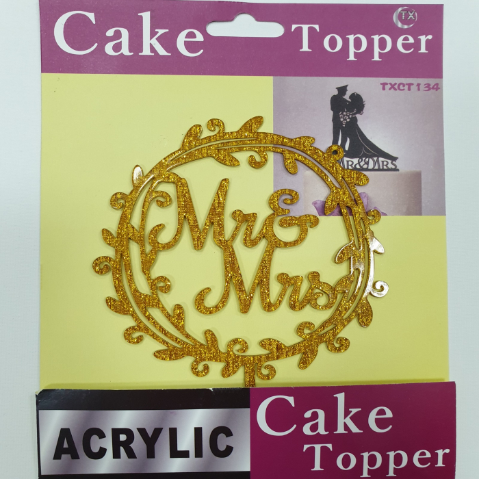 Topper acrilic - Mr & Mrs 1
