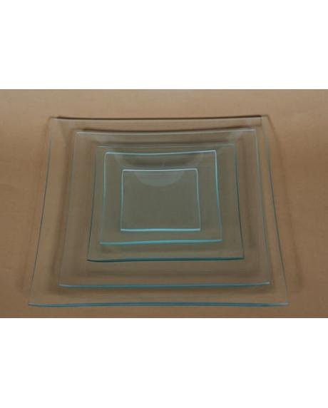 Platou sticla patrat 15x15 cm 0