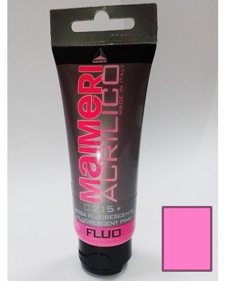 Vopsea acrilica fluorescenta 75 ml roz
