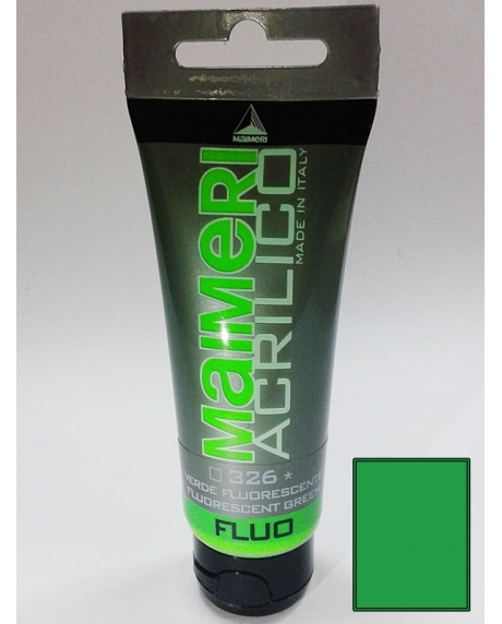 Vopsea acrilica fluorescenta 75 ml verde 0