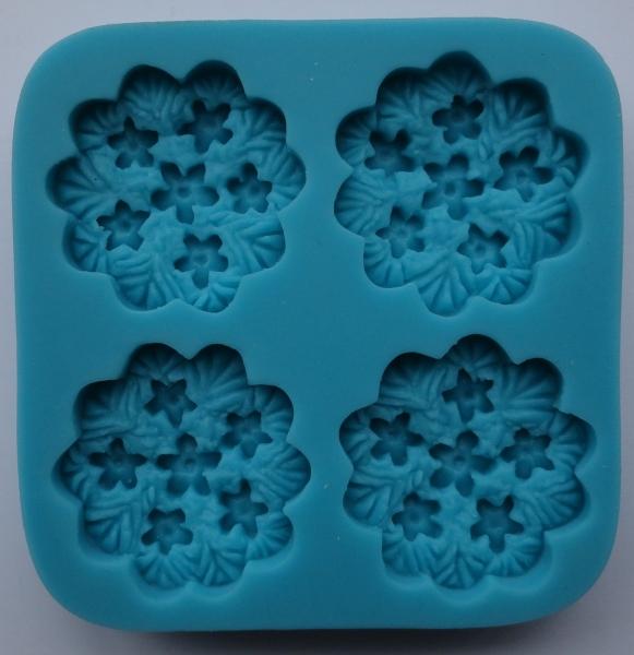 Mulaj din silicon, medalion-floare 0