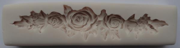 Mulaj din silicon, ornament cu trandafiri 0