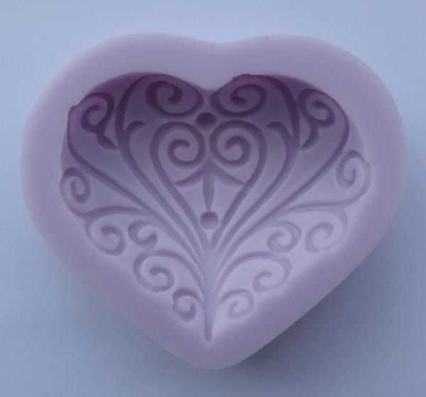 Mulaj din silicon - inima decorativa 0