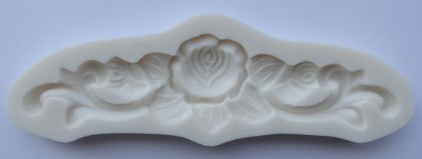 Mulaj din silicon, bordura-model floral