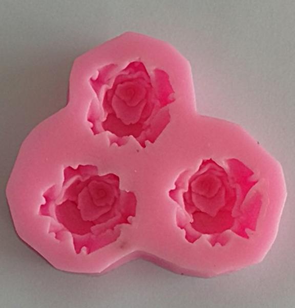 Mulaj din silicon, 3 trandafiri 0