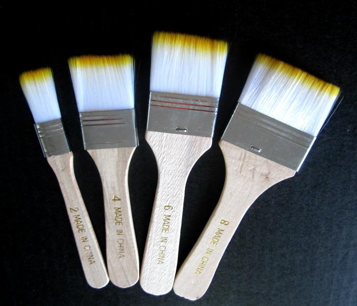 Set pensule late tip bidinea 4 marimi 0