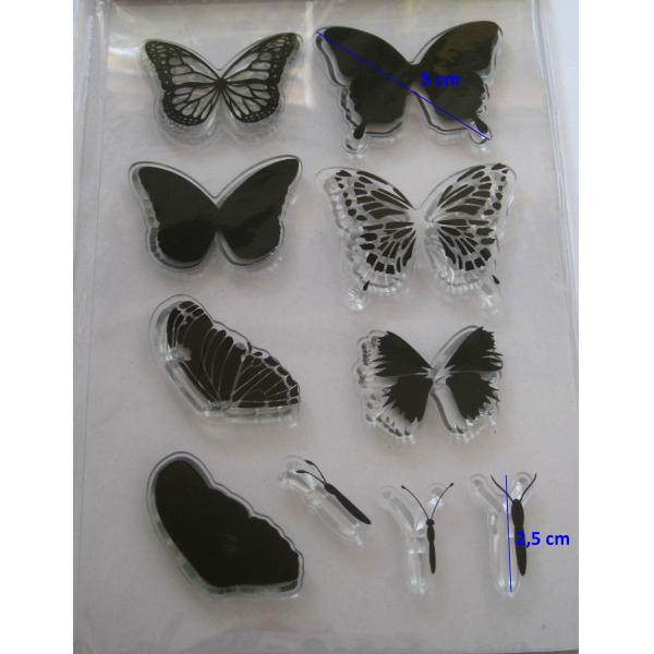 Stampila silicon fluturi 1