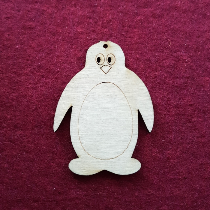 Figurina din lemn - Pinguin 0