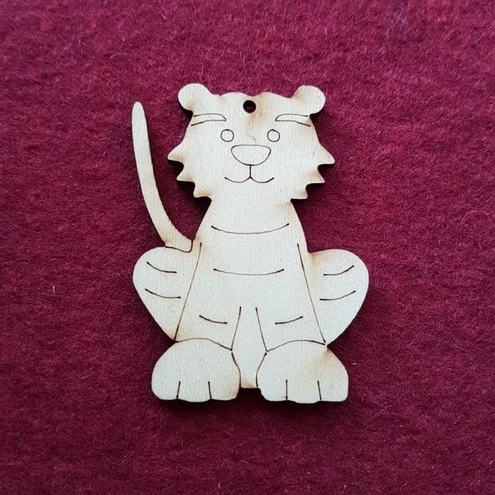 Figurina din lemn -Tigru 0
