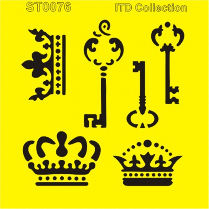sablon-flexibil-chei-si-coroane-16x16cm-itd-collection-st0076 0