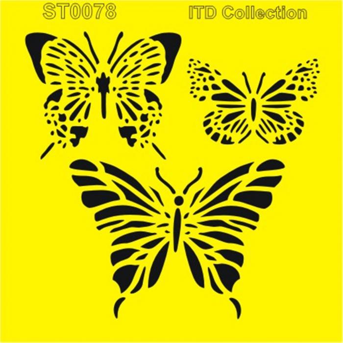 sablon-flexibil-fluturi-16x16cm-itd-collection-st0078b 0