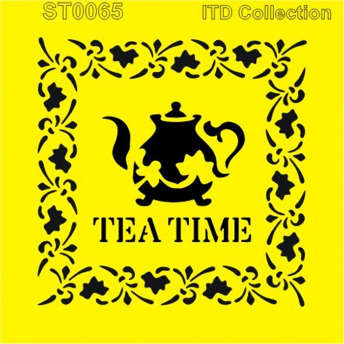 sablon-flexibil-tea-time-16x16cm-itd-collection-st0065b 0